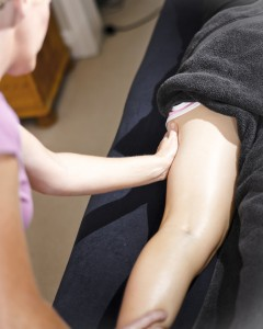 Sports massage treatment photo